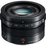 Panasonic Leica DG 15mm f/1.7 Summilux ASPH. (Black) Lens — 0€ Photo Emporiki