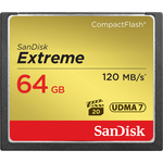 SanDisk Extreme CompactFlash 64GB 120MB/s — 43.6€ Photo Emporiki